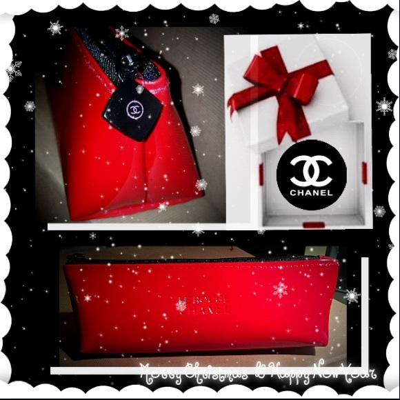 85158da6c8bd9f CHANEL Bags   Sale Vip Giftred Le Rouge Makeup Bag   Poshmark